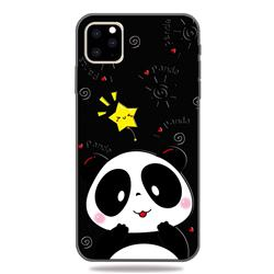 Cute Bear 3D Embossed Relief Black TPU Cell Phone Back Cover for iPhone 11 Pro (5.8 inch)