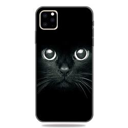 Bearded Feline 3D Embossed Relief Black TPU Cell Phone Back Cover for iPhone 11 Pro (5.8 inch)