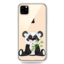 Bamboo Panda Clear Varnish Soft Phone Back Cover for iPhone 11 Pro (5.8 inch)