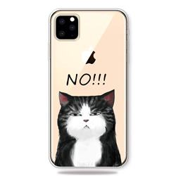 Cat Say No Clear Varnish Soft Phone Back Cover for iPhone 11 Pro (5.8 inch)