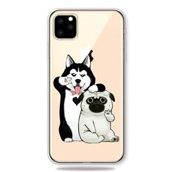 Selfie Dog Clear Varnish Soft Phone Back Cover for iPhone 11 Pro (5.8 inch)