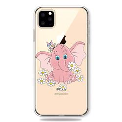 Tiny Pink Elephant Clear Varnish Soft Phone Back Cover for iPhone 11 Pro (5.8 inch)