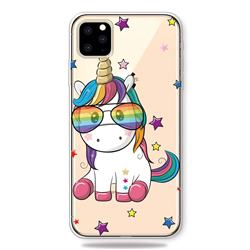 Glasses Unicorn Clear Varnish Soft Phone Back Cover for iPhone 11 Pro (5.8 inch)