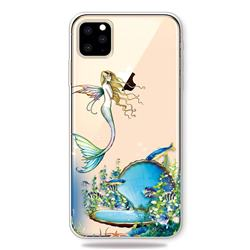 Mermaid Clear Varnish Soft Phone Back Cover for iPhone 11 Pro (5.8 inch)