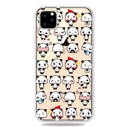 Mini Panda Clear Varnish Soft Phone Back Cover for iPhone 11 Pro (5.8 inch)