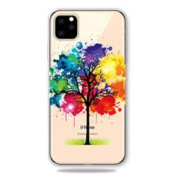 Oil Painting Tree Clear Varnish Soft Phone Back Cover for iPhone 11 Pro (5.8 inch)