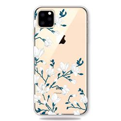 Magnolia Flower Clear Varnish Soft Phone Back Cover for iPhone 11 Pro (5.8 inch)