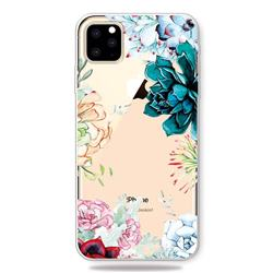 Gem Flower Clear Varnish Soft Phone Back Cover for iPhone 11 Pro (5.8 inch)