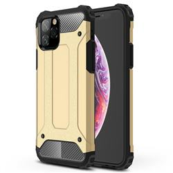 King Kong Armor Premium Shockproof Dual Layer Rugged Hard Cover for iPhone 11 Pro (5.8 inch) - Champagne Gold