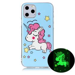 Stars Unicorn Noctilucent Soft TPU Back Cover for iPhone 11 Pro (5.8 inch)