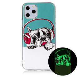 Headphone Puppy Noctilucent Soft TPU Back Cover for iPhone 11 Pro (5.8 inch)