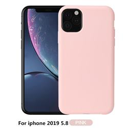 Howmak Slim Liquid Silicone Rubber Shockproof Phone Case Cover for iPhone XI 2019 (5.8 inch) - Pink