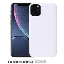 Howmak Slim Liquid Silicone Rubber Shockproof Phone Case Cover for iPhone 11 Pro (5.8 inch) - White
