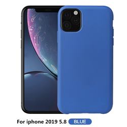 Howmak Slim Liquid Silicone Rubber Shockproof Phone Case Cover for iPhone 11 Pro (5.8 inch) - Sky Blue