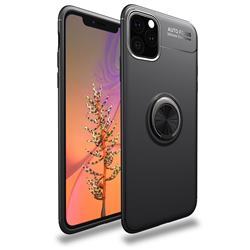 Auto Focus Invisible Ring Holder Soft Phone Case for iPhone 11 Pro (5.8 inch) - Black