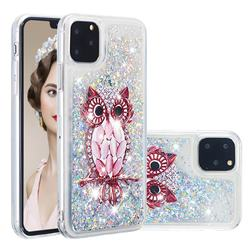 Seashell Owl Dynamic Liquid Glitter Quicksand Soft TPU Case for iPhone 11 Pro (5.8 inch)