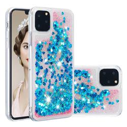Dynamic Liquid Glitter Quicksand Sequins TPU Phone Case for iPhone 11 Pro (5.8 inch) - Blue