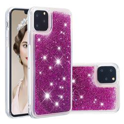 Dynamic Liquid Glitter Quicksand Sequins TPU Phone Case for iPhone 11 Pro (5.8 inch) - Purple