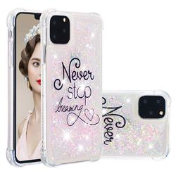 Never Stop Dreaming Dynamic Liquid Glitter Sand Quicksand Star TPU Case for iPhone 11 Pro (5.8 inch)