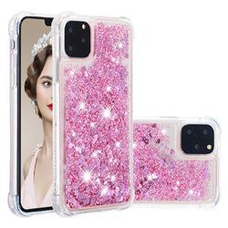 Dynamic Liquid Glitter Sand Quicksand Star TPU Case for iPhone 11 Pro (5.8 inch) - Diamond Rose