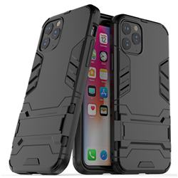 Armor Premium Tactical Grip Kickstand Shockproof Dual Layer Rugged Hard Cover for iPhone 11 Pro (5.8 inch) - Black