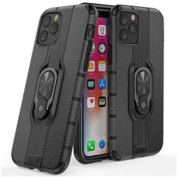Alita Battle Angel Armor Metal Ring Grip Shockproof Dual Layer Rugged Hard Cover for iPhone 11 Pro (5.8 inch) - Black