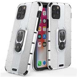 Alita Battle Angel Armor Metal Ring Grip Shockproof Dual Layer Rugged Hard Cover for iPhone 11 Pro (5.8 inch) - Silver