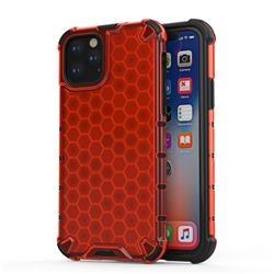 Honeycomb TPU + PC Hybrid Armor Shockproof Case Cover for iPhone 11 Pro (5.8 inch) - Red