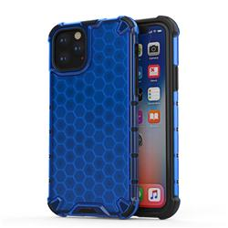 Honeycomb TPU + PC Hybrid Armor Shockproof Case Cover for iPhone 11 Pro (5.8 inch) - Blue