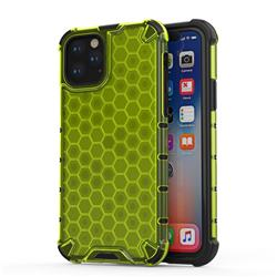 Honeycomb TPU + PC Hybrid Armor Shockproof Case Cover for iPhone 11 Pro (5.8 inch) - Green