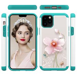 Pearl Flower Shock Absorbing Hybrid Defender Rugged Phone Case Cover for iPhone 11 Pro (5.8 inch)