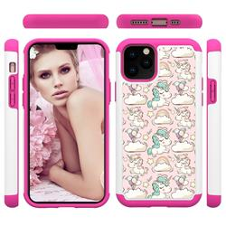 Pink Pony Shock Absorbing Hybrid Defender Rugged Phone Case Cover for iPhone 11 Pro (5.8 inch)
