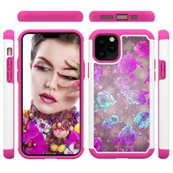 peony Flower Shock Absorbing Hybrid Defender Rugged Phone Case Cover for iPhone 11 Pro (5.8 inch)