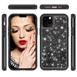 Glitter Rhinestone Bling Shock Absorbing Hybrid Defender Rugged Phone Case Cover for iPhone 11 Pro (5.8 inch) - Black