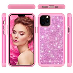 Glitter Rhinestone Bling Shock Absorbing Hybrid Defender Rugged Phone Case Cover for iPhone 11 Pro (5.8 inch) - Pink