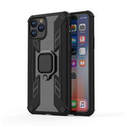 Predator Armor Metal Ring Grip Shockproof Dual Layer Rugged Hard Cover for iPhone 11 Pro (5.8 inch) - Black