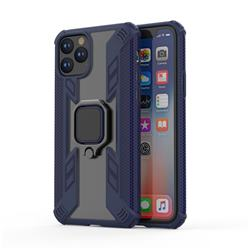 Predator Armor Metal Ring Grip Shockproof Dual Layer Rugged Hard Cover for iPhone 11 Pro (5.8 inch) - Blue