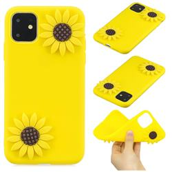 Yellow Sunflower Soft 3D Silicone Case for iPhone 11 Pro (5.8 inch)