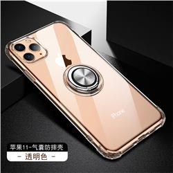 Anti-fall Invisible Press Bounce Ring Holder Phone Cover for iPhone 11 Pro (5.8 inch) - Transparent