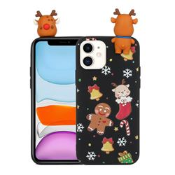 Gift Snow Christmas Xmax Soft 3D Doll Silicone Case for iPhone 11 Pro (5.8 inch)