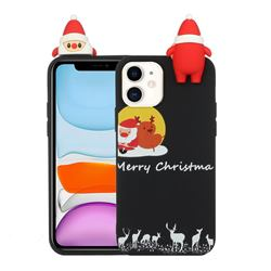 Santa Elk on Moon Christmas Xmax Soft 3D Doll Silicone Case for iPhone 11 Pro (5.8 inch)