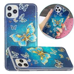 Golden Butterfly Painted Galvanized Electroplating Soft Phone Case Cover for iPhone 11 Pro (5.8 inch)