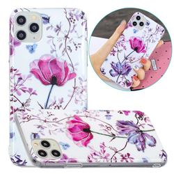 Magnolia Painted Galvanized Electroplating Soft Phone Case Cover for iPhone 11 Pro (5.8 inch)
