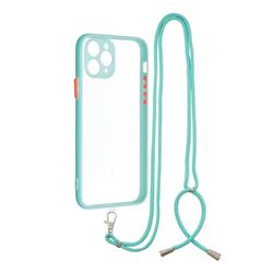 Necklace Cross-body Lanyard Strap Cord Phone Case Cover for iPhone 11 Pro (5.8 inch) - Blue
