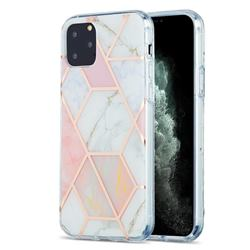 Pink White Marble Pattern Galvanized Electroplating Protective Case Cover for iPhone 11 Pro (5.8 inch)