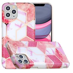 Cherry Glitter Painted Marble Electroplating Protective Case for iPhone 11 Pro (5.8 inch)
