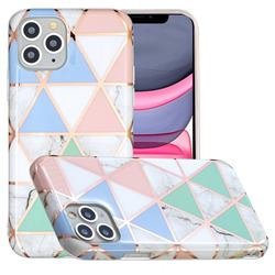 Fresh Triangle Painted Marble Electroplating Protective Case for iPhone 11 Pro (5.8 inch)