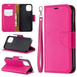 Classic Luxury Litchi Leather Phone Wallet Case for iPhone 11 Pro (5.8 inch) - Rose