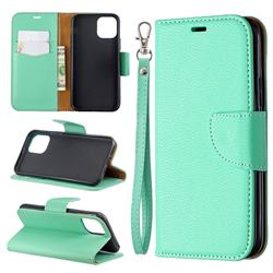 Classic Luxury Litchi Leather Phone Wallet Case for iPhone 11 Pro (5.8 inch) - Green