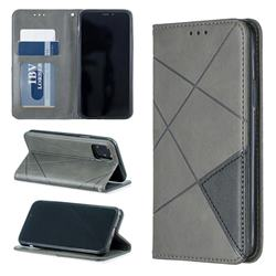 Prismatic Slim Magnetic Sucking Stitching Wallet Flip Cover for iPhone 11 Pro (5.8 inch) - Gray